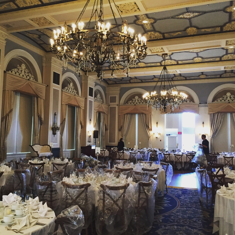 Setting up Hotel MacDonald wedding on August 21. Vintage antique loveseat available to rent for your wedding!