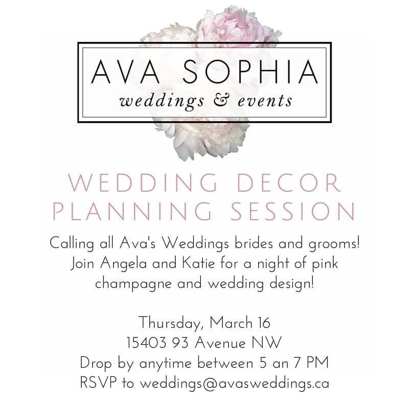 ava sophia wedding decor planning session