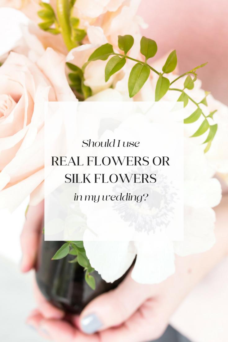 REAL FLOWERS OR SILK FLOWERS edmonton wedding decorator