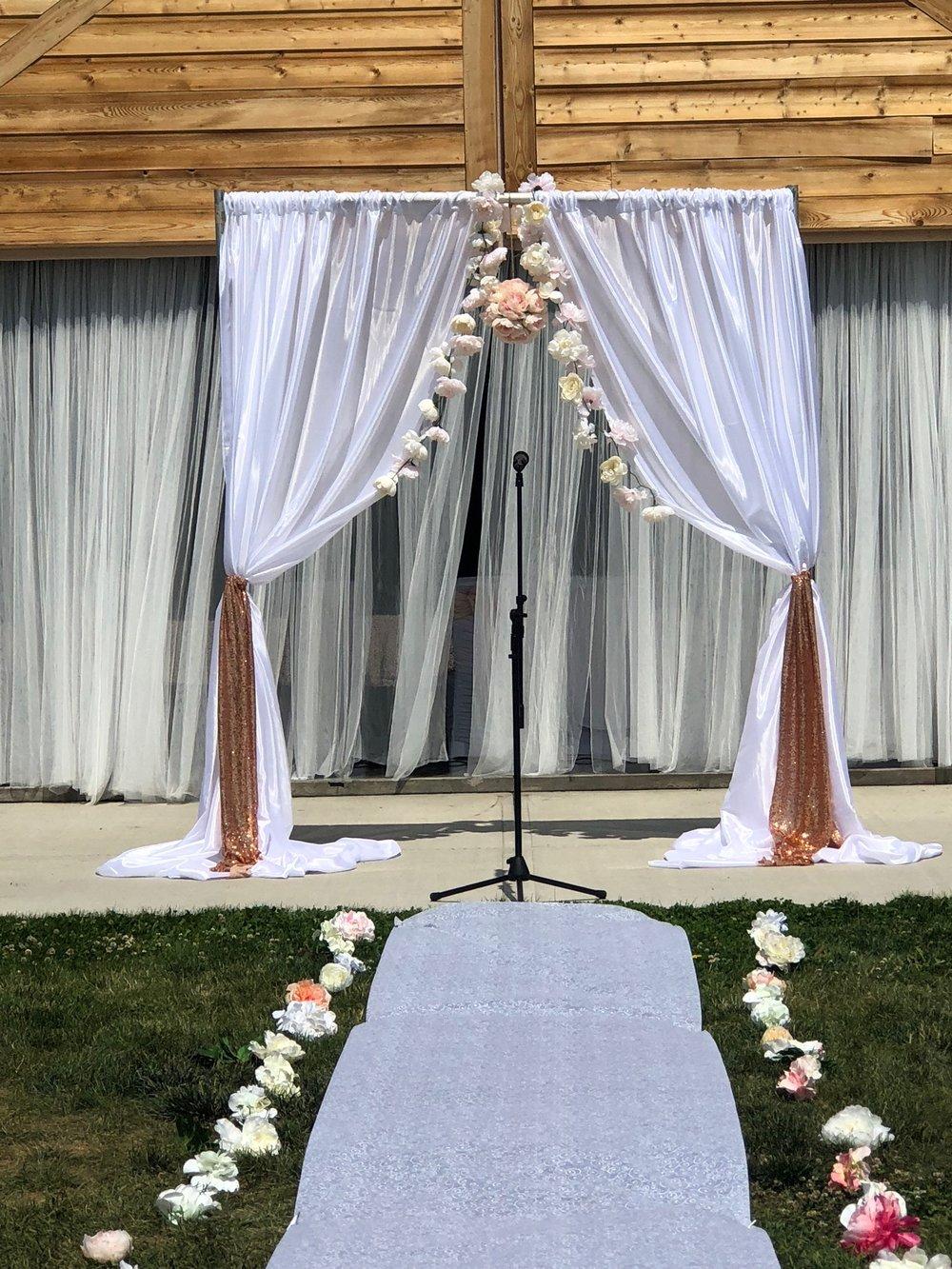 Olds Summer Wedding Ceremony