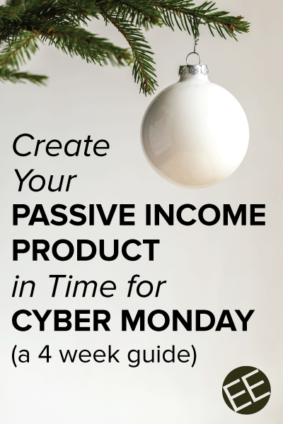 Entrepreneurs, are you ready to sell your product this Cyber Monday? Follow along for 4 weeks as we create a passive income step by step in time for the holidays. Have it ready to sell for the holidays and continue to sell it afterward. Ready to get started? Click through for week 1 tasks.