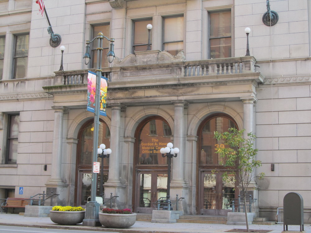 The Legislature meets at the County Office Building at 39 West Main St in downtown Rochester.