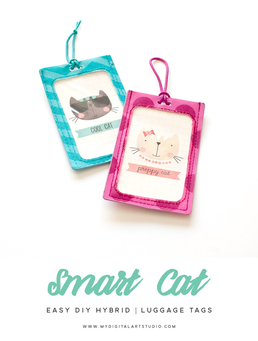 Smart Cat Luggage Tags | Easy DIY Hybrid Tutorial
