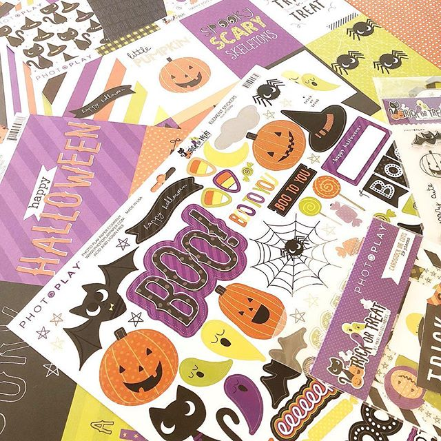 I have had this collection on my desk for so long and I kept meaning to share it with you all ❤️ it's the cute #trickortreat collection I made for @photoplaypaper so excited and so in Halloween mode totally ready to get a crafting goodies 😍