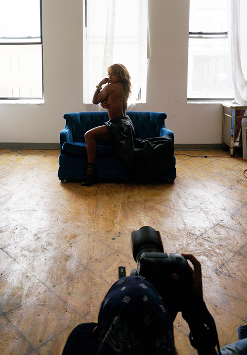 Behind the scene - Blue Sofa Series Model: Karina Nascimento • Stylist: Dominique Vein • MUA: Lucy Macias