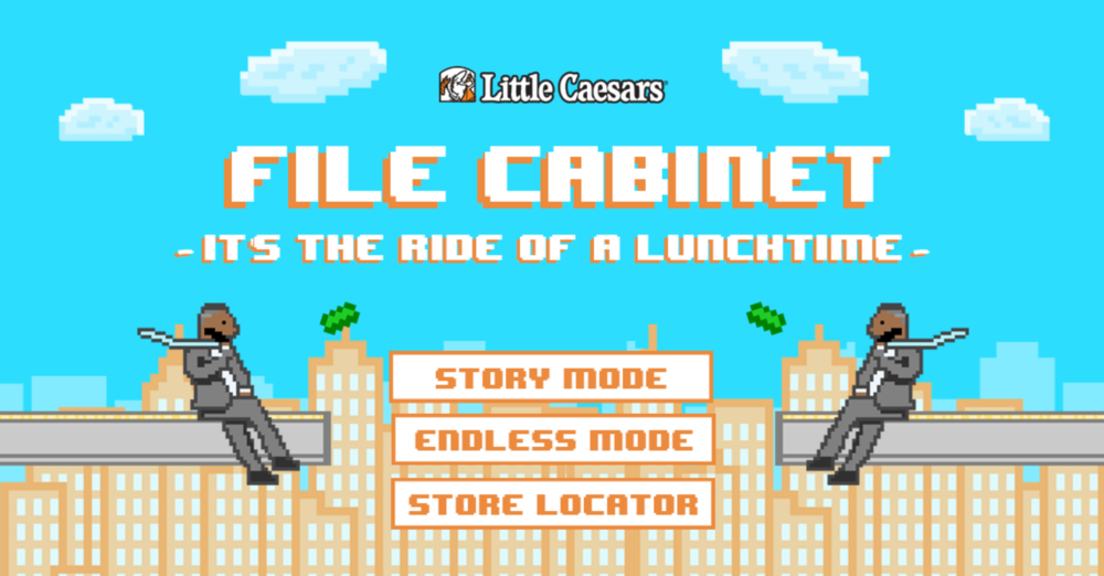 (click image to play)    The client didn't ask us to make an 8-bit game over the span of a couple weekends, but we did it anyway.     We designed each pixel one click at a time and learned how to code it with the GameSalad software.