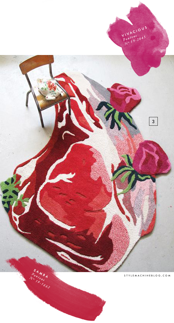 Steak & Roses Rug by Nathalie Lete