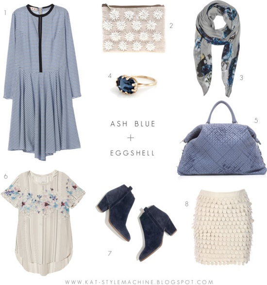 Color Lust | Ash Blue + Eggshell