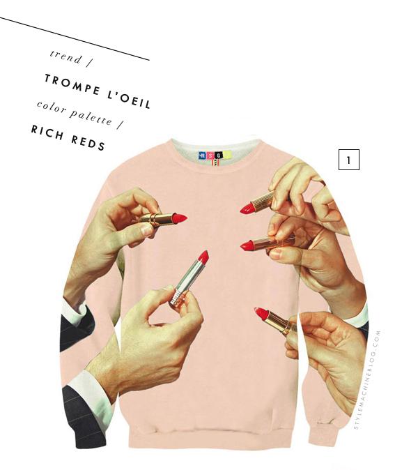 Kooky Lipstick Sweatshirt via Madewell