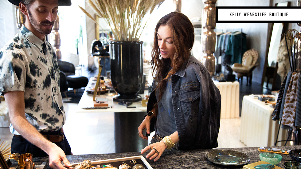 Shopping at the  Kelly Wearstler Boutique  in L.A.,  via DomaineHome.com