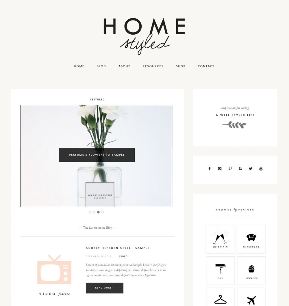 homestyled-blog-design