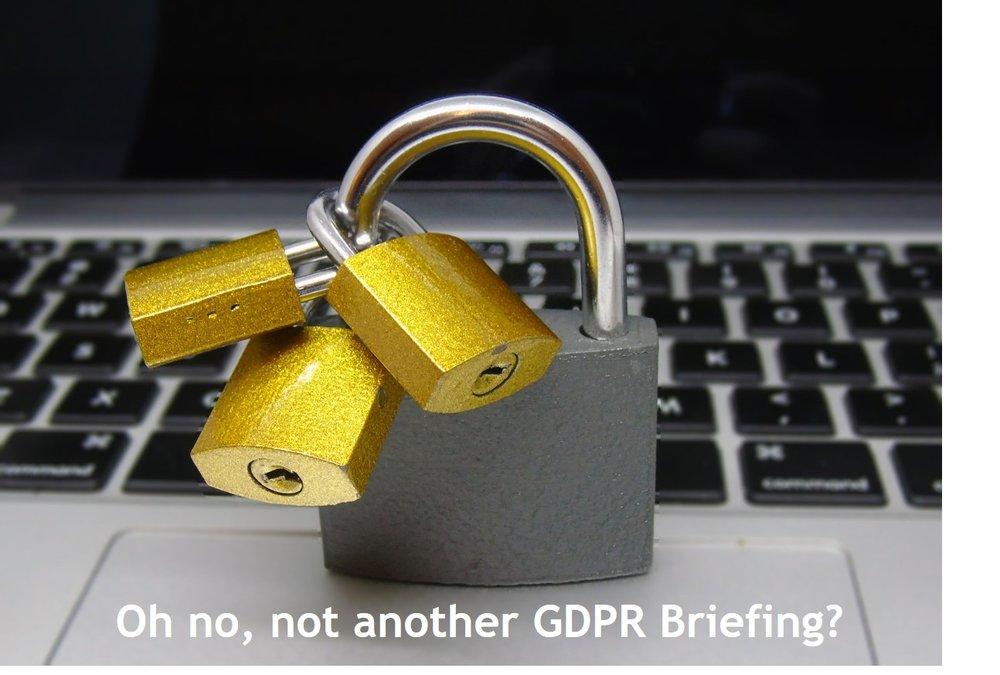 - At the risk of irritation, many GDPR briefings are heavy in frequency, but perhaps light on clarity and usefulness.So, together with our friends at Create and Comply, we venture a little warily into the GDPR den and offer a view and a few pragmatic recommendations that we hope will be well-received by our community of Intelligent Project experts.