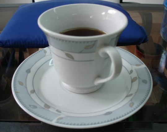 "A typical serving size of black coffee in Bogota, usually about the size of an espresso, and sweetened with two cubes of white sugar. When asking for a cup of coffee, Colombians will often use the diminutive form ""cafesito "" or ""tintico"", to indicate just how little of it they actually want."