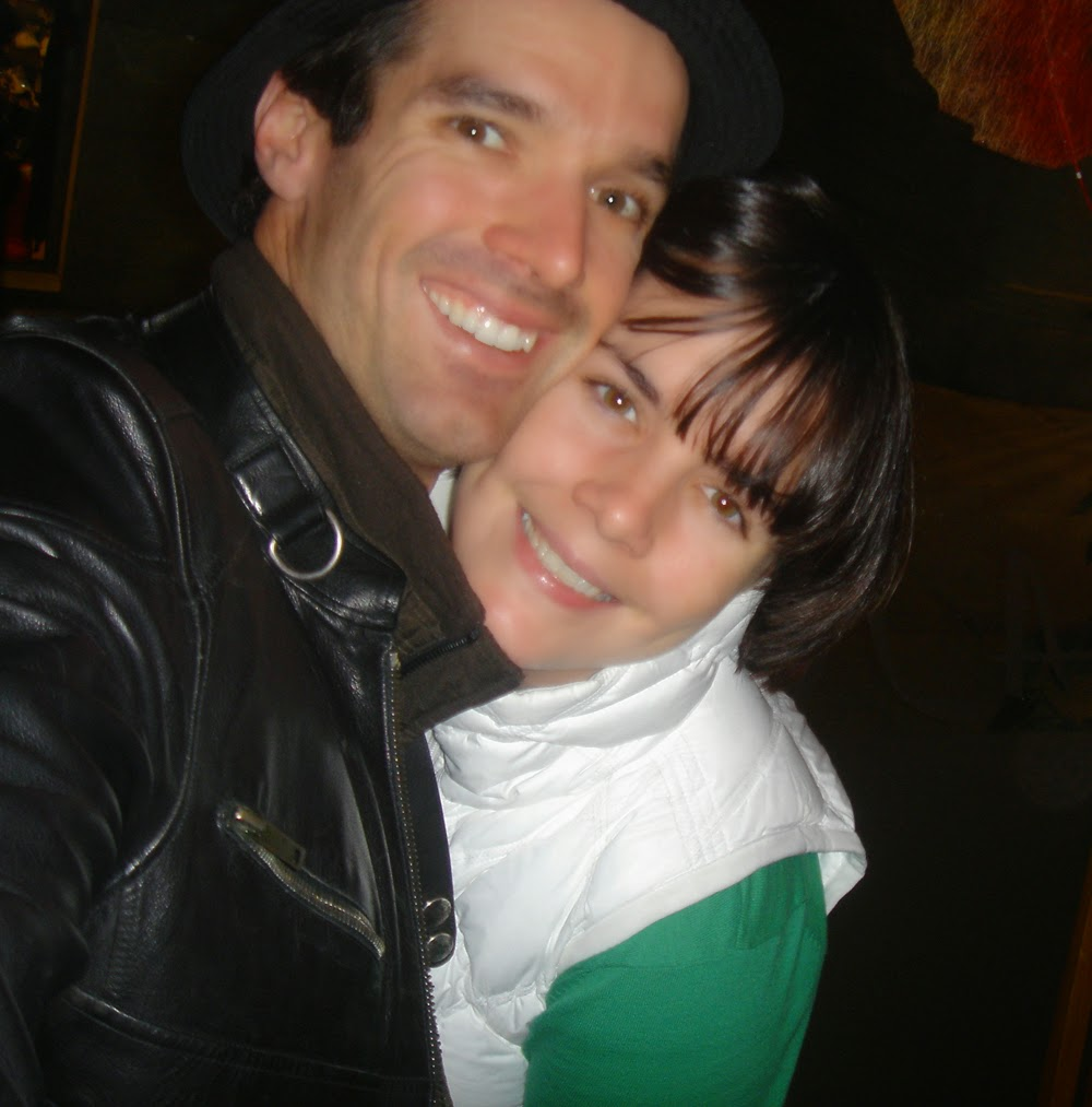 Fran and her brother David in 2009