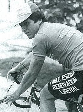 "Gonzalo ""Chalo"" Marín, riding for a team sponsored by one of Pablo Escobar's political campaigns. [Picture scanned from the book  Kings of The mountains ]"