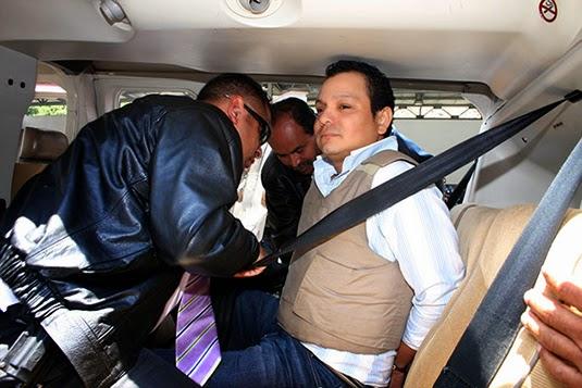 Javier Urango Herrera in custody as he was extradited from Veneuzela