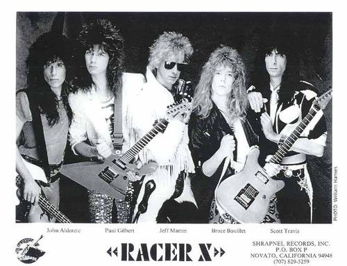 Juan, far left, with Racer X