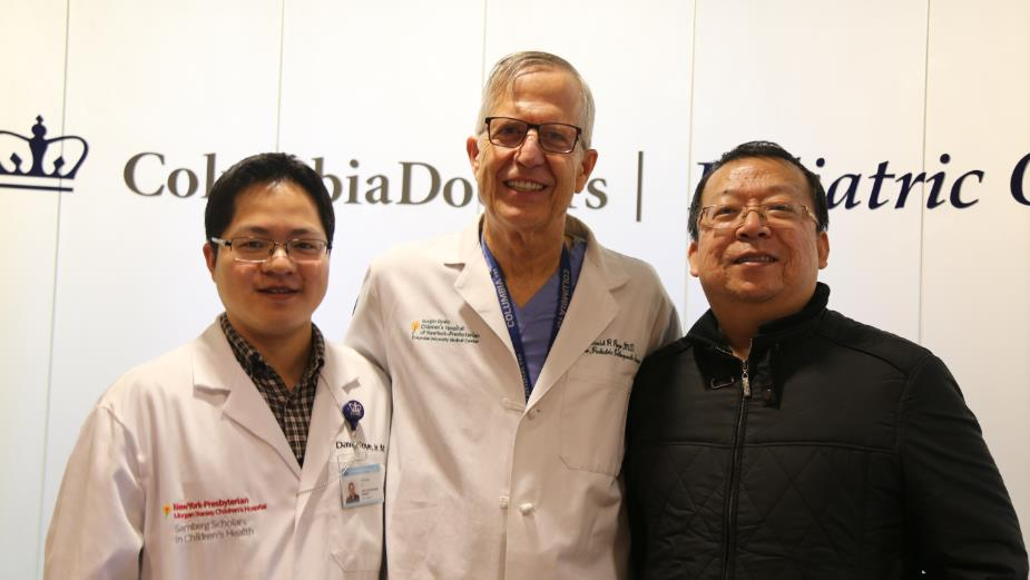 Dr.David P. Roye with Dr.Jianglong Xu and Dr.Liang Xu (from left)