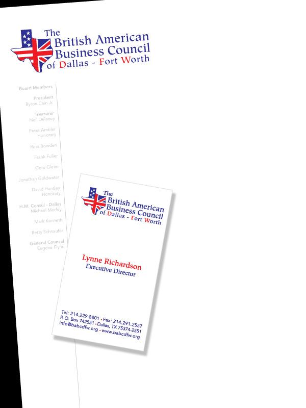 British american business council 451 design graphic design letterhead amp business card design fornbspbritish american business council dfw see website colourmoves