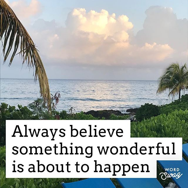 Believing that something wonderful is going to happen brings you positive energy & happiness! #tryittoday #thinkpositive  TUESDAY CLASSES: 5:45am POWER + FLOW YOGA 6:30am BodyShred 7:05am TRXfit 9:15am Kick It Combo 9:15am FITMOM - BLAST30 10:00am Pilates with Weights  10:45am Yin Yoga  4:30pm Core Bootcamp 5:30pm BLAST30 ***NEW TIME*** 6:25pm BOSU CORE POWER *NEW TIME* 7:00pm JACKED UP  To Book: http://www.livewell4lifeinc.com/class-schedule @livewell4life