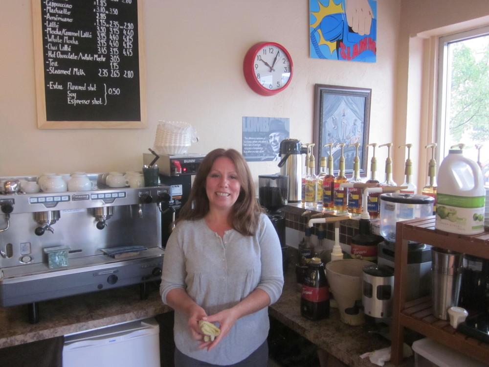 Tasha@Delbe's Corner Cafe.JPG