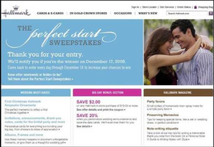 Hallmark Perfect Start Sweepstakes