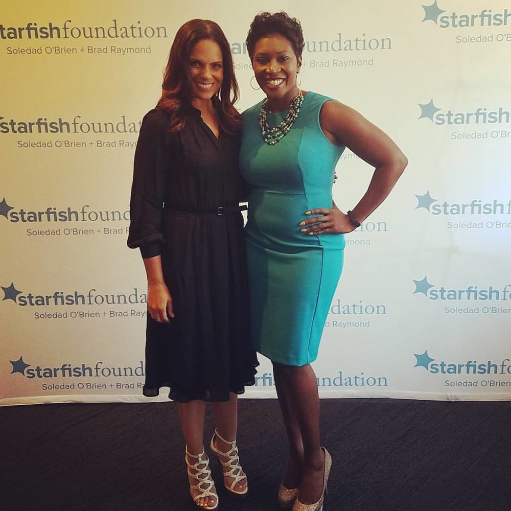 Client Noreen speaking at the Soledad O'Brien Starfish Foundation event for Women in STEM (Science, Technology, Engineering & Mathematics).