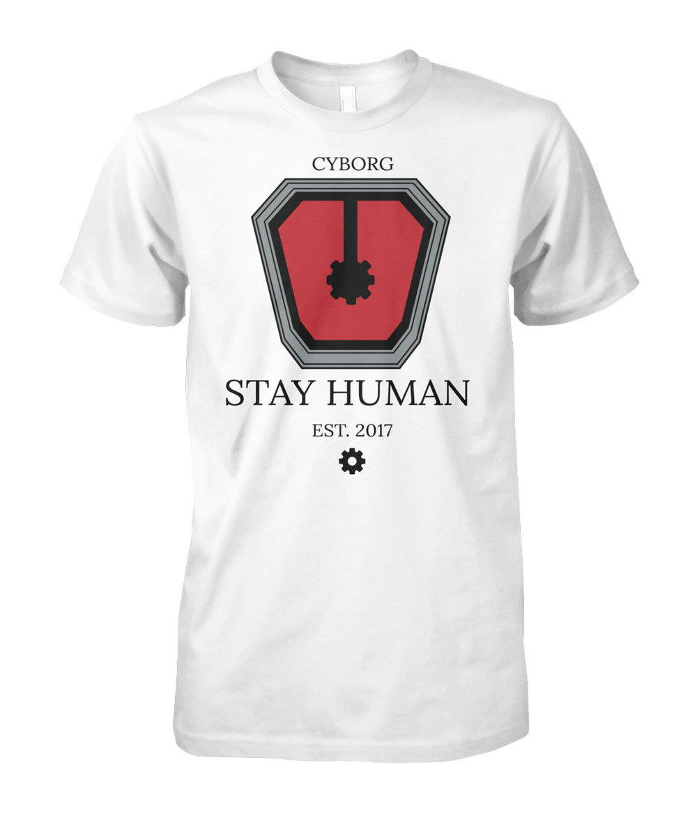 By purchasing a t-shirt, you toke a pledge to STAY HUMAN and keep love in your heart. -