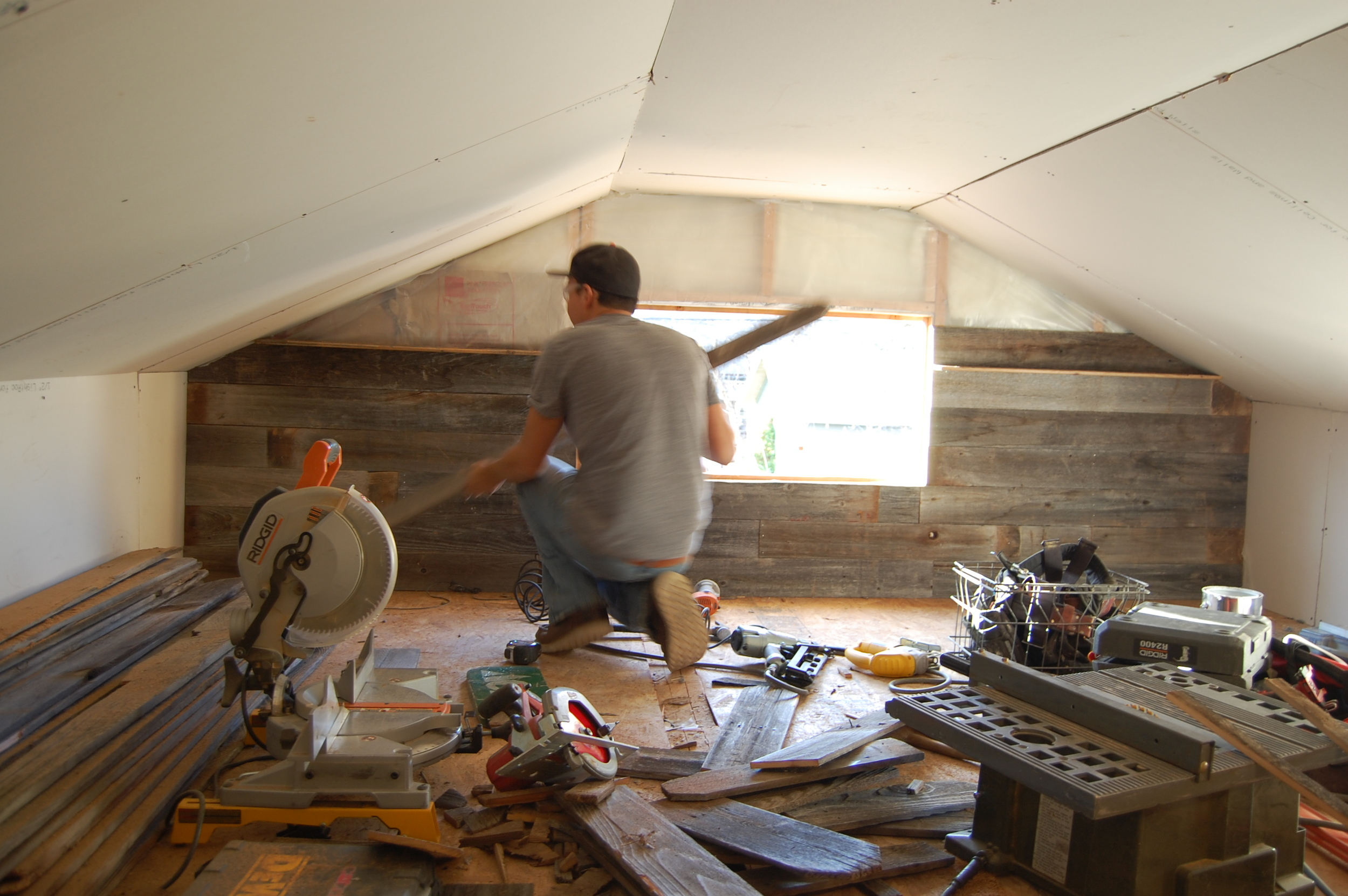 Once Both Walls Were Paneled We Used An Idea Wed Found In A Book Where They Trim To Cover The Seams Of Drywall Old Cabin