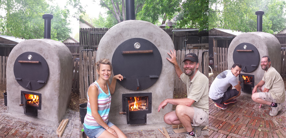 Finished oven.  This was our very first fire to cure the brick.  BEYOND excited!  The entire process took 1 month and 10 days to complete.