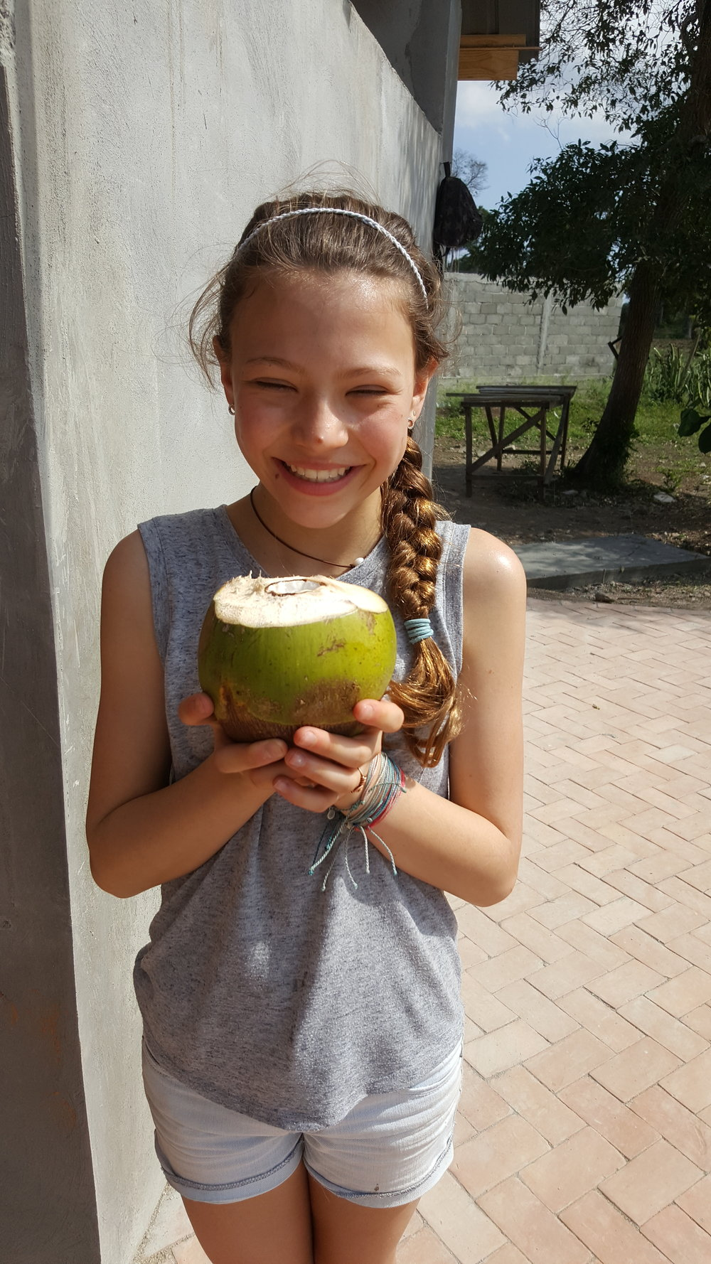 fresh coconut - yum!