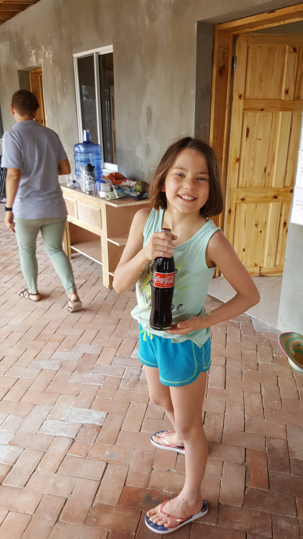 Gia's very first coke!