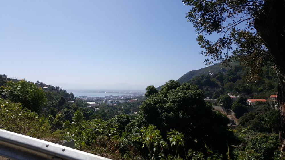 The beautiful view driving up the mountain - looking back on the city of Cap Haitien