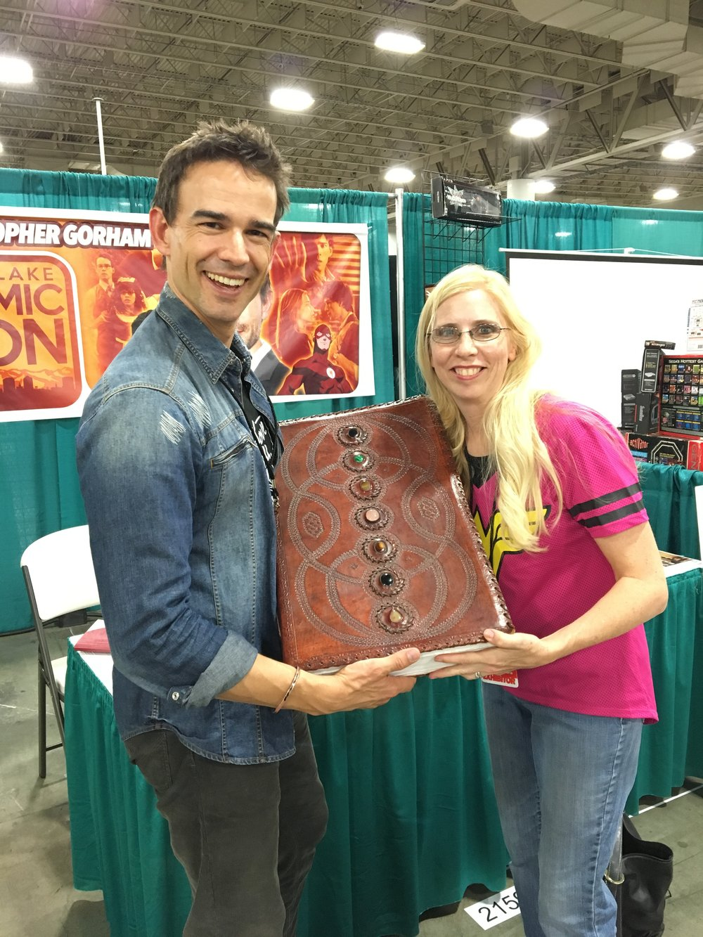 Christopher Gorham and Robin Glassey with the Big Book