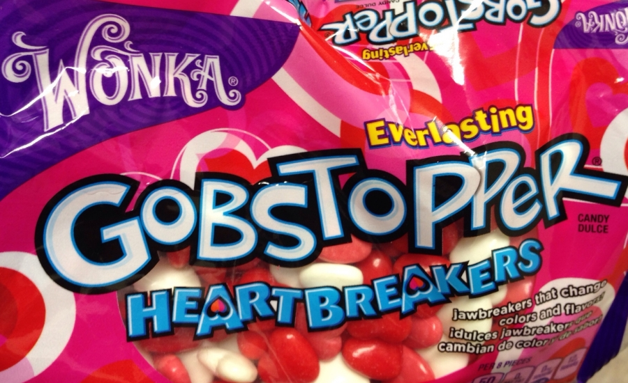 One of my most favorite candies during Valentine's - Wonka brand Gobstopper Heartbreakers!