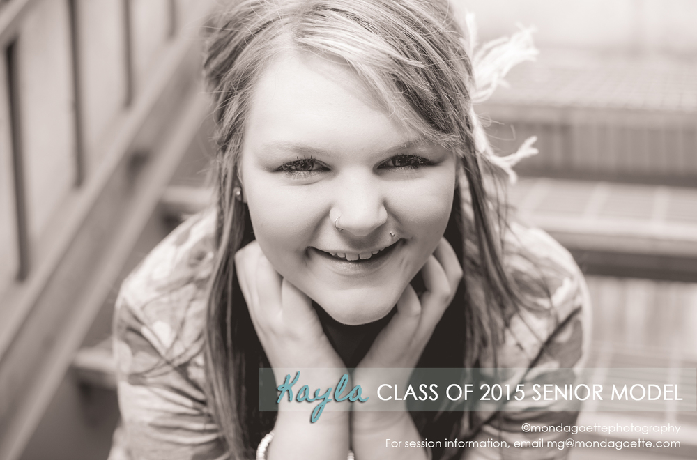 Kayla's Model Session Image for Class of 2015