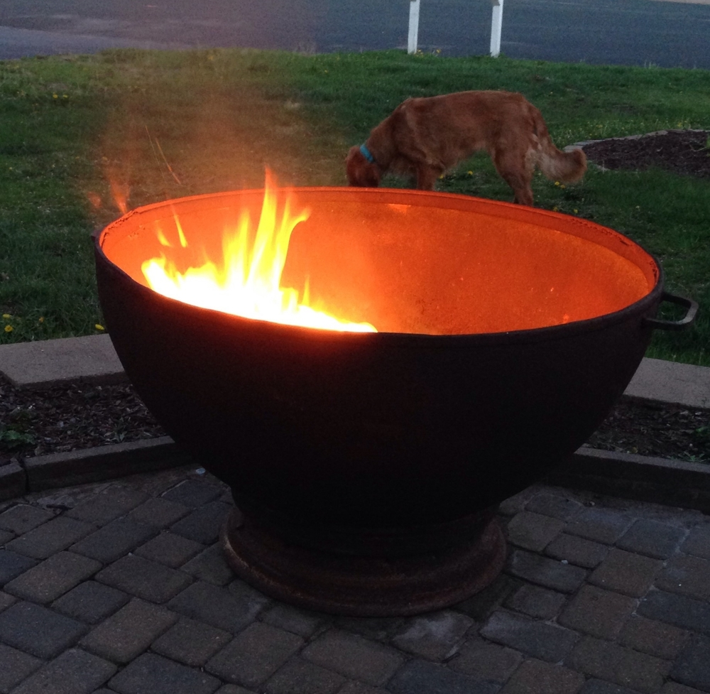 "Our awesome new firepit ""bowl"""
