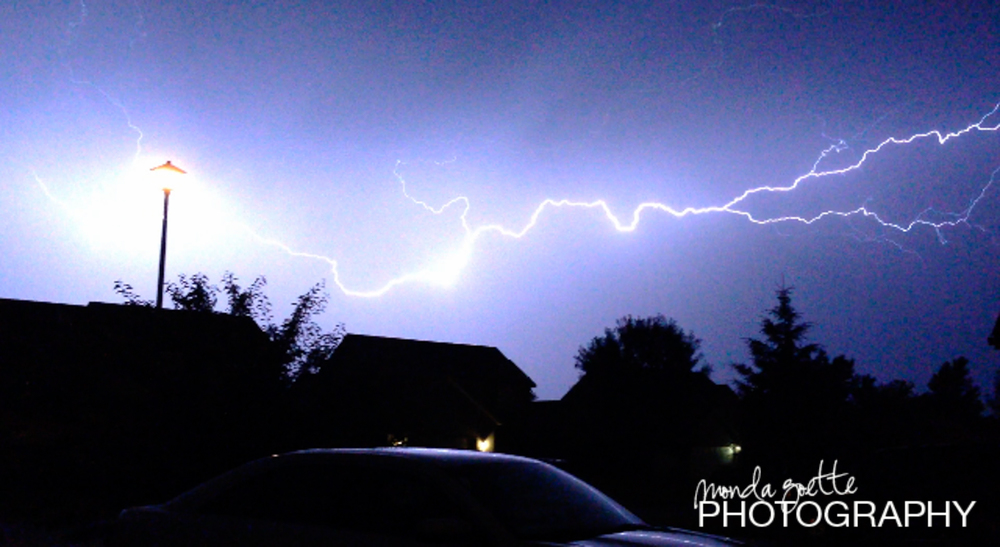 Lightning storm in Shakopee on early June 28, 2015