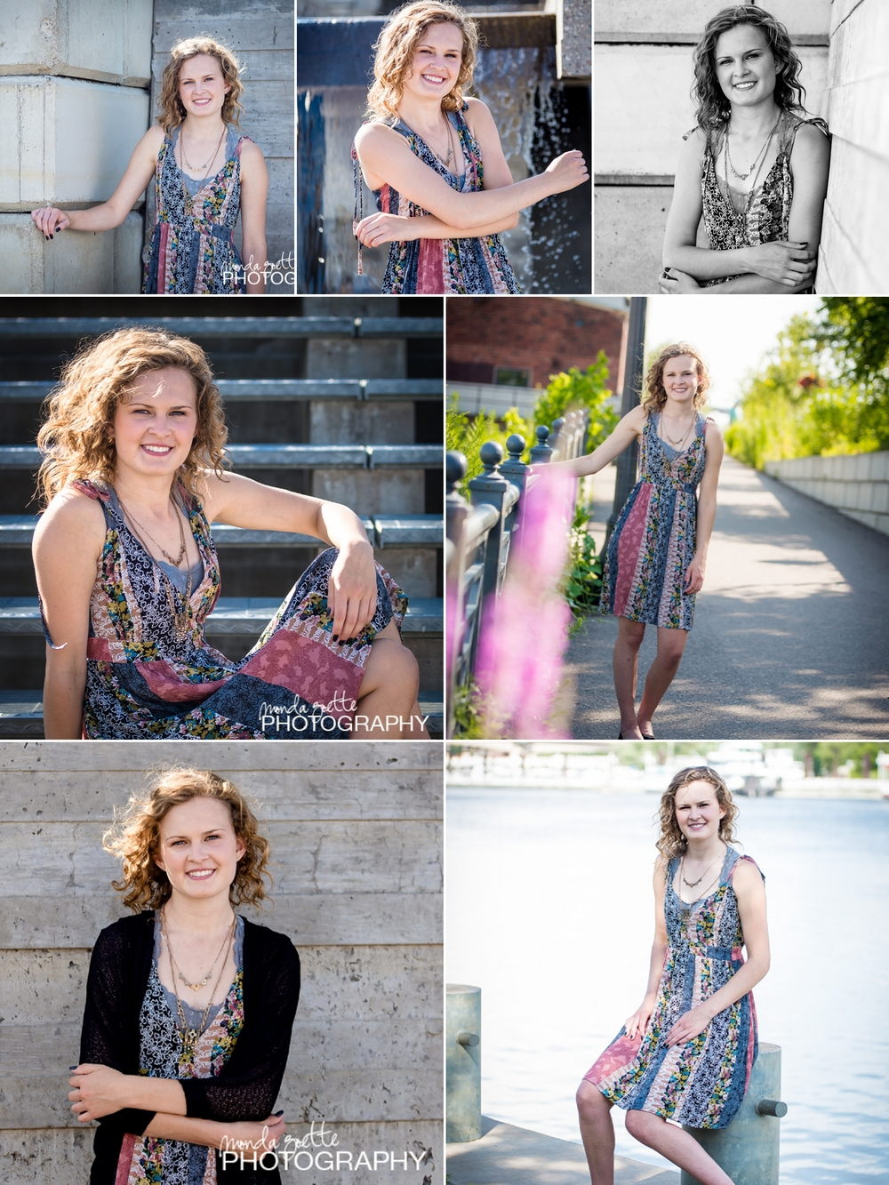 Emma's Model Session - pictured in outfits provided by my partner friends at ApricotLane Boutique in Mendota Heights!