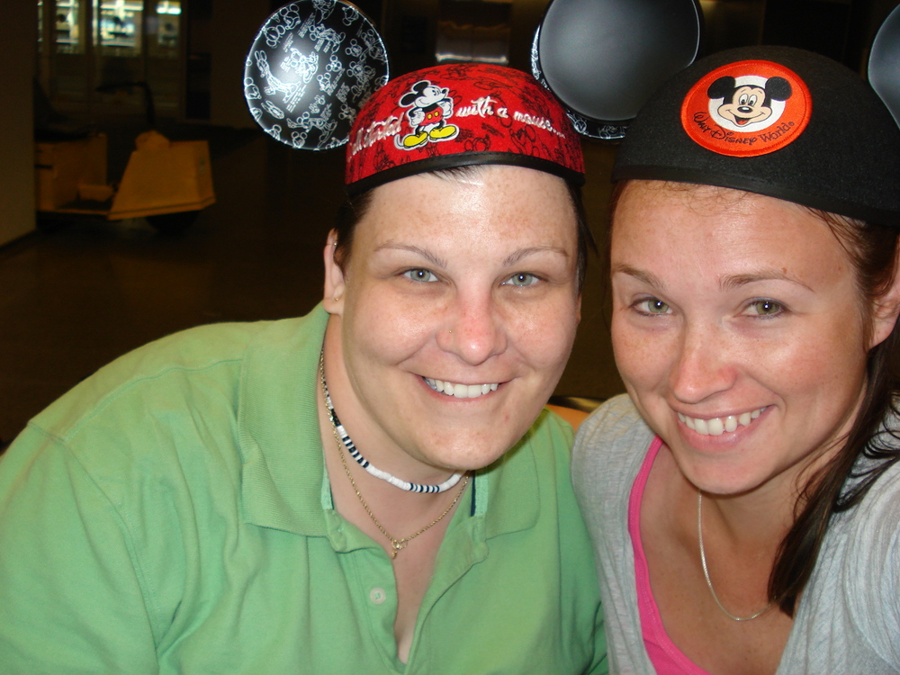 My best pal Jenny and I after an amazing trip to Disney World in Florida, 2010.