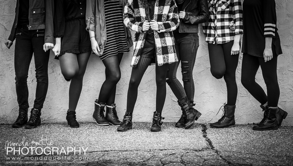 My model Maddie and her friends are all about the combat boots!