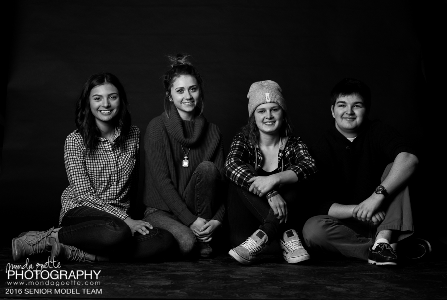 The crew: Kaitlin, Maddie, Emma, and Hunter - Class of 2016 Senior Model Team