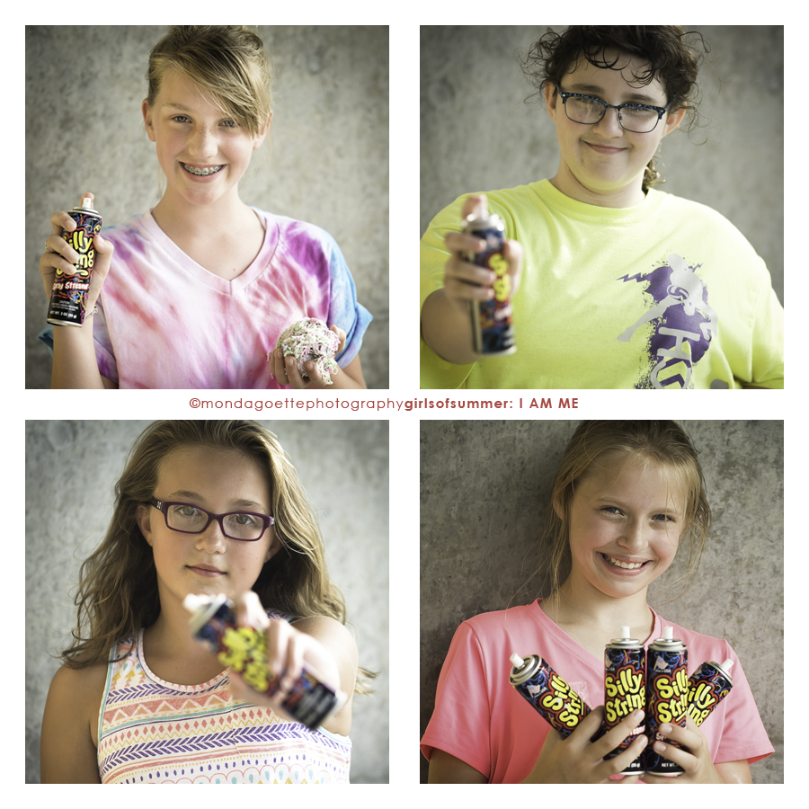 Girls of summer: I am me project. silly string crew: Grace, natalie, lilee, and ellie!