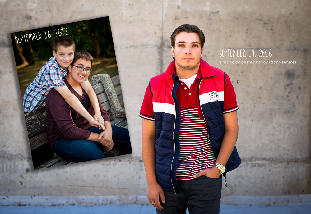 pictured is a younger Tony with his older brother, AJ, during AJ's senior session in 2012.