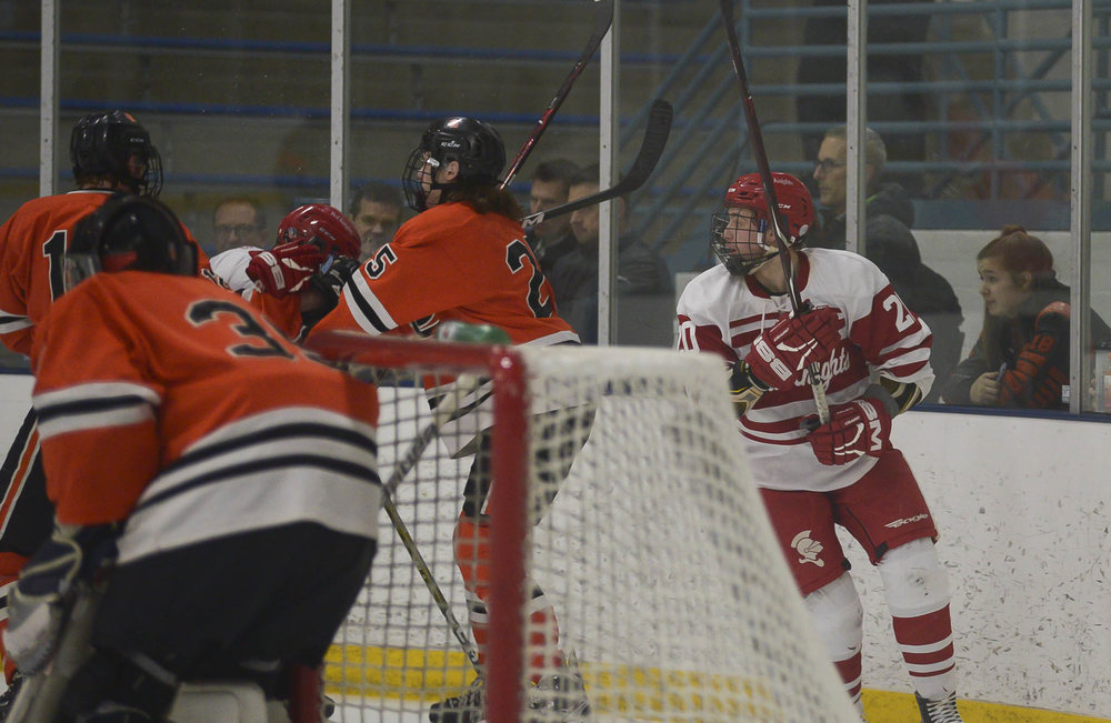 The last photo I took of Joey playing in his last high school hockey game Feb 22, 2018 in a Section playoff game vs St. Louis Park. I did not plan for this to be the last photo, but it was, as we lost to SLP that night, bringing Joey's BSM high school hockey career to an abrupt close.