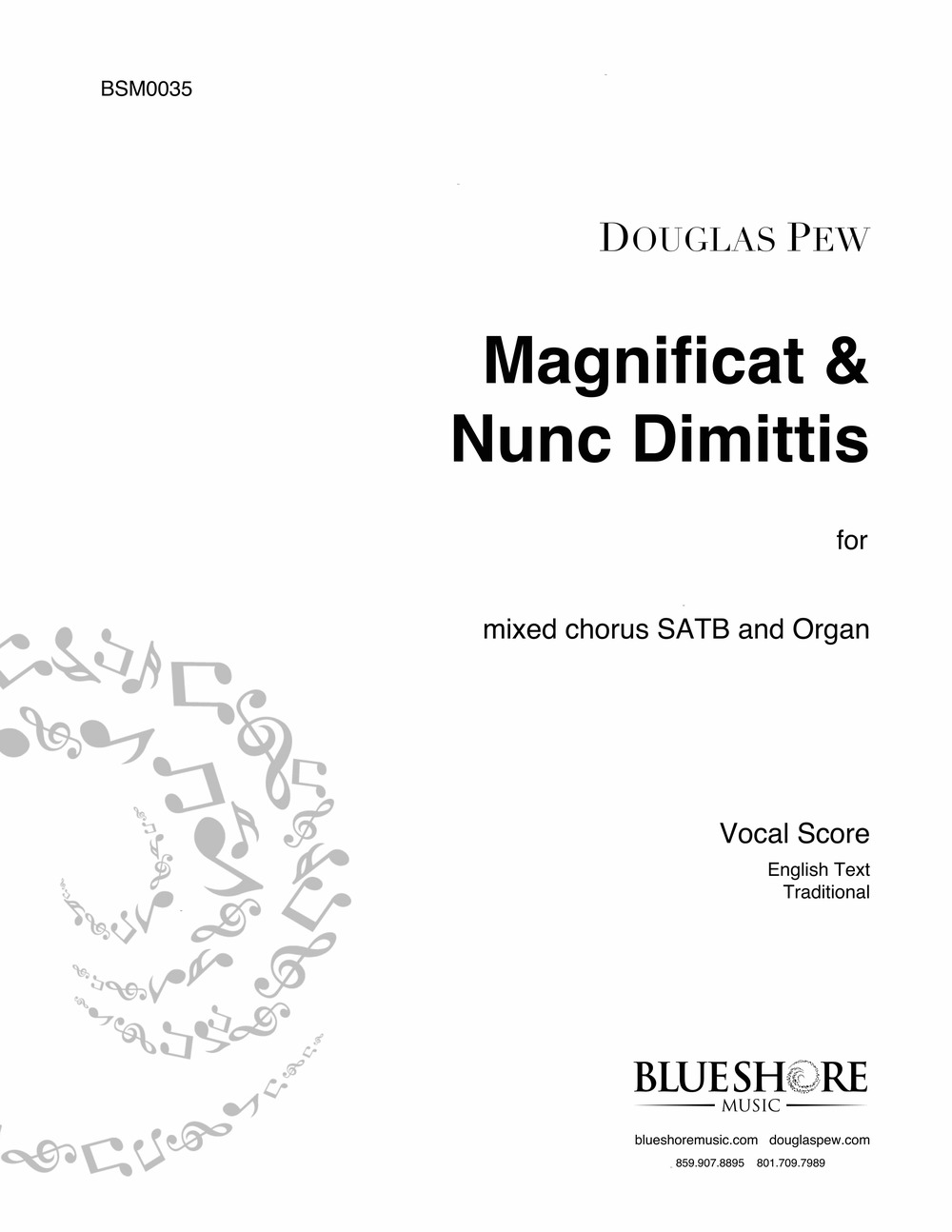 Magnificat & Nunc Dimittis  (St. Thomas Service) , for Choir SATB and Organ.