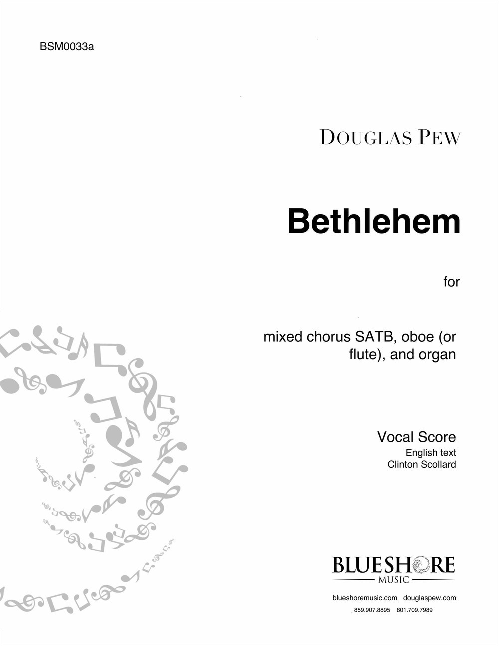 Bethlehem   - Christmas Carol for SATB, Oboe (or Flute), and Organ