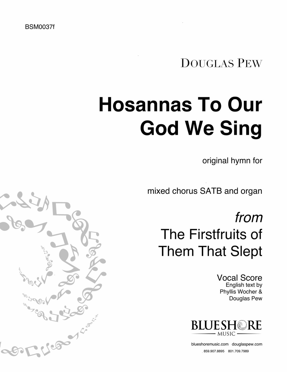 Hosannas To Our God We Sing - SATB and Organ