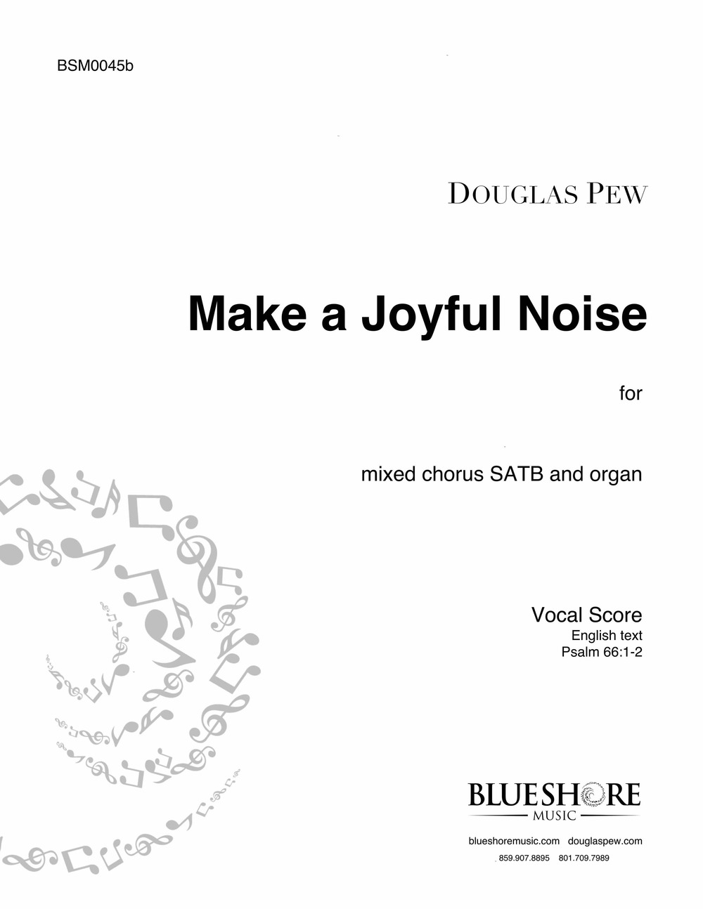 Make A Joyful Noise   - SATB and Organ