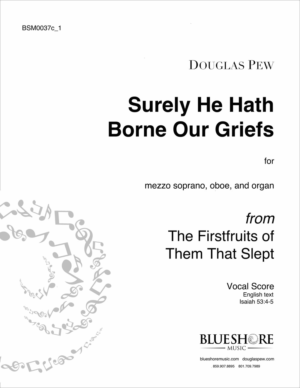 Surely He Hath Borne Our Griefs - for Mezzo-Soprano and Organ (or Chamber Ensemble)